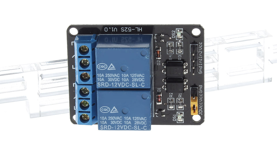 2-Channel 12V/250V AC Relay Module