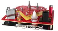 Buy 3-Layer 44-Hole Acrylic Display Stand E-Cigarettes Acrylic, 3-Layer, 44-Hole, Red + Yellow Black