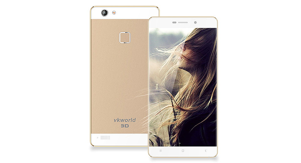 "Authentic VKWorld Discovery S2 5.5"" Quad-Core Android 5.1 Lollipop LTE Smartphone (16GB)"