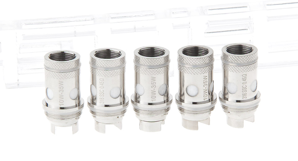 Image of Authentic OBS T-VCT Replacement 316 Stainless Steel Coil Head (5-Pack)