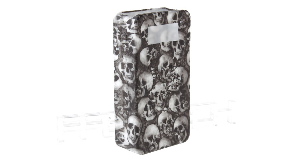 Protective Silicone Sleeve Case for Snow Wolf 200W TC VW APV Mod 200W TC/VW Mod, White (skull pattern)