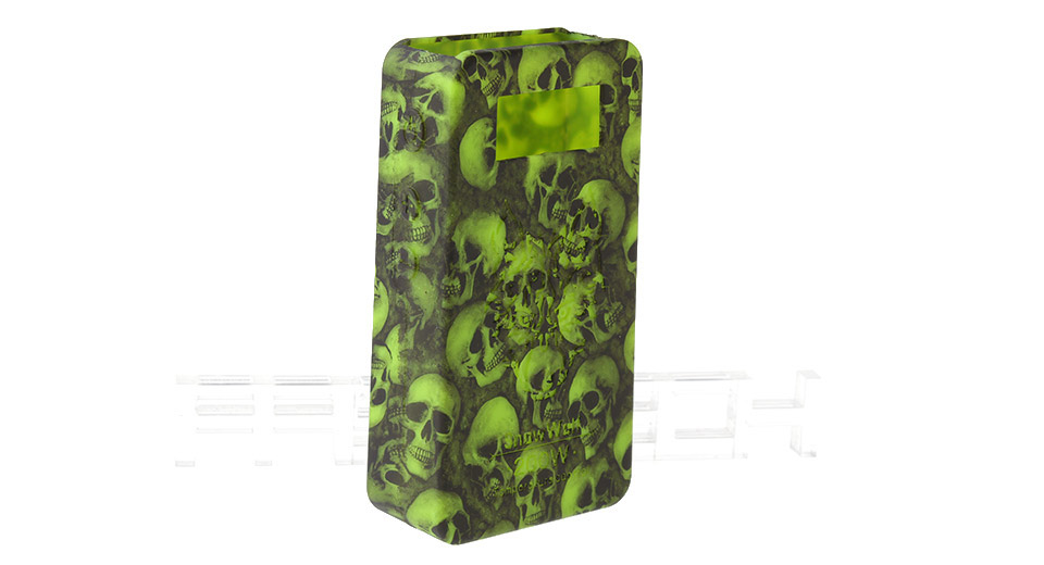Protective Silicone Sleeve Case for Snow Wolf 200W TC VW APV Mod 200W TC/VW Mod, Green (skull pattern)