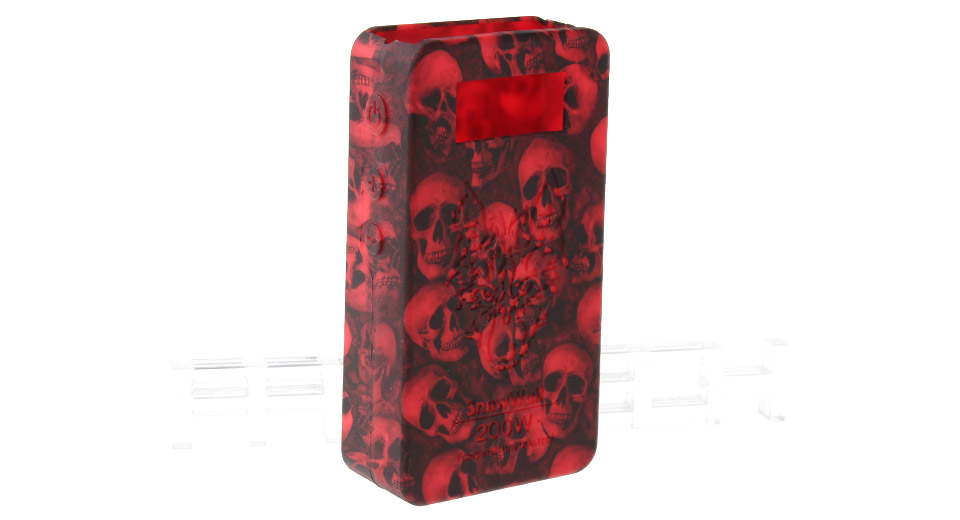 Protective Silicone Sleeve Case for Snow Wolf 200W TC VW APV Mod 200W TC/VW Mod, Red (skull pattern)