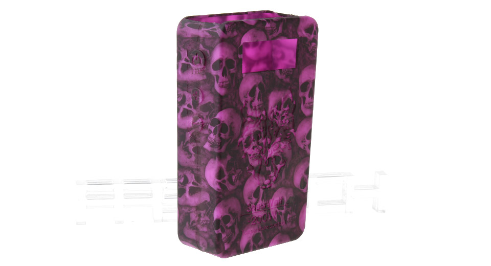 Protective Silicone Sleeve Case for Snow Wolf 200W TC VW APV Mod 200W TC/VW Mod, Purple (skull pattern)
