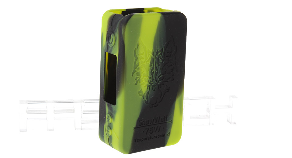 Protective Silicone Sleeve Case for Snow Wolf Mini 75W TC VW APV Box Mod Mini 75W TC/VW Mod, Black + Green