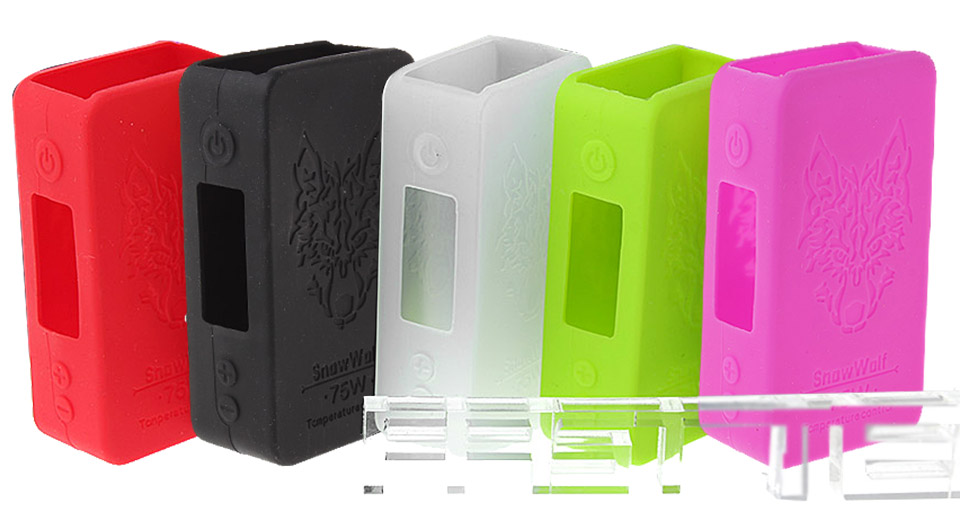 Protective Silicone Sleeve Case for Snow Wolf Mini 75W TC VW Box Mod (5 Pieces) Mini 75W TC/VW Mod, 5 Pieces, 5 Colors