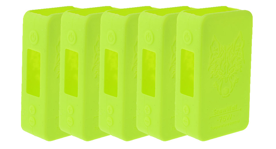 Protective Silicone Sleeve Case for Snow Wolf Mini 75W TC VW Box Mod (5-Pack) Mini 75W TC/VW Mod, Green, 5-Pack