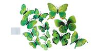 Buy 3D Butterfly Styled Wall Sticker Home Decoration (12 Pieces) Styled, 12 Pieces, Green