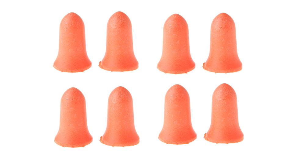 Image of Bullet Styled Noise Reduction Earplugs (4 Pairs)