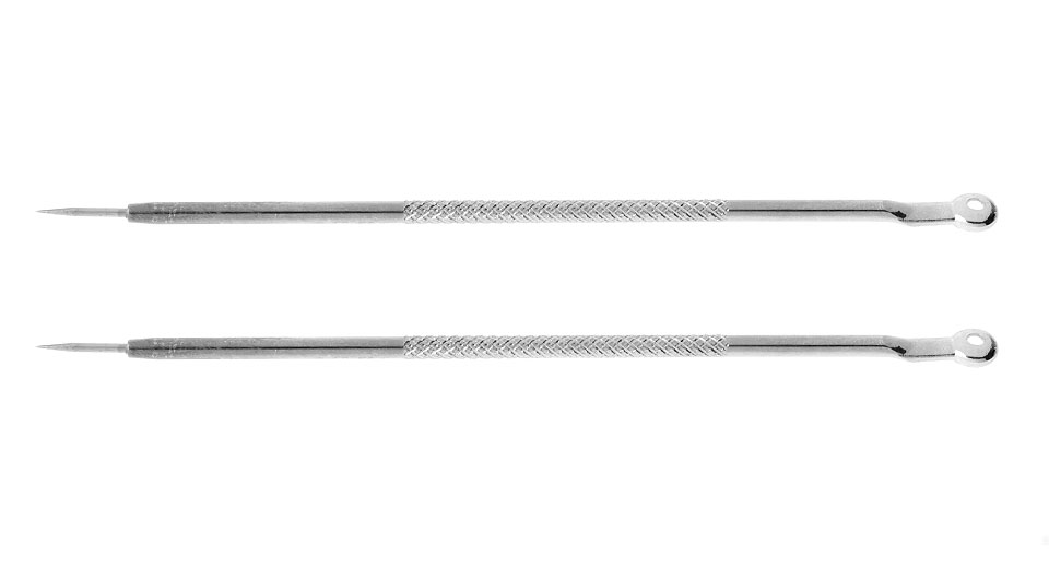 Dual End Stainless Steel Blackhead & Pimples Acne Needle Extractor (2-Pack)