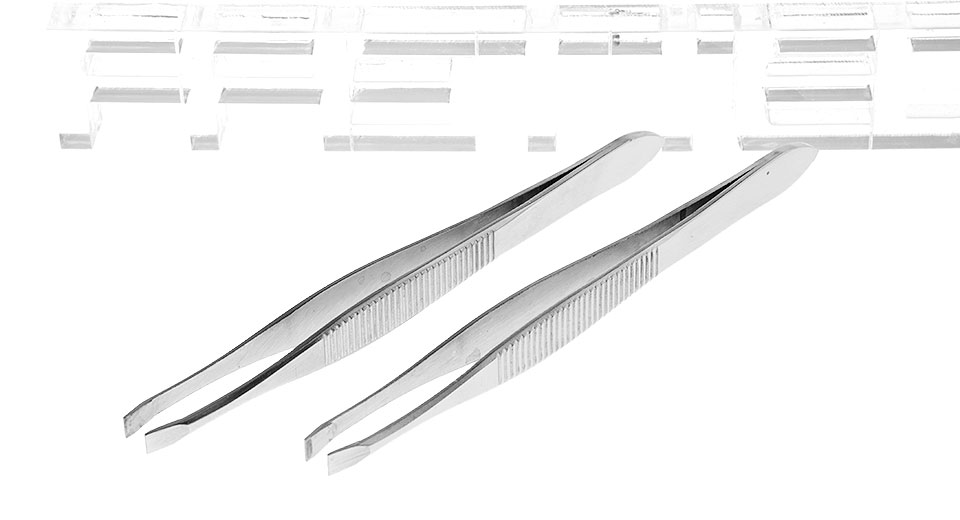 Stainless Steel Eyebrow Shaping Removal Tweezers Clip (2-Pack)