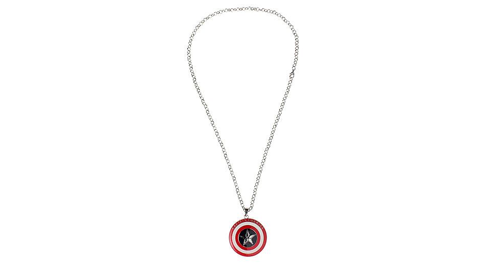 Marvel the Avengers Captain America Shield Pendant Necklace