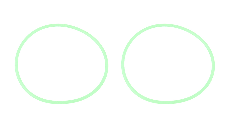 Image of Silicone O-Ring Seal for LED Flashlight (2-Pack)