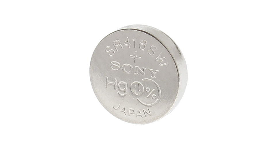 Image of Authentic Sony 337 SR416SW 1.55V 8mAh Button Cell Battery