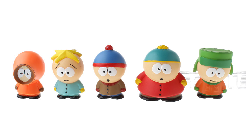 New South Park Butters Kyle Stan Cartman Kenny Action Figures Toy (5 Pieces)