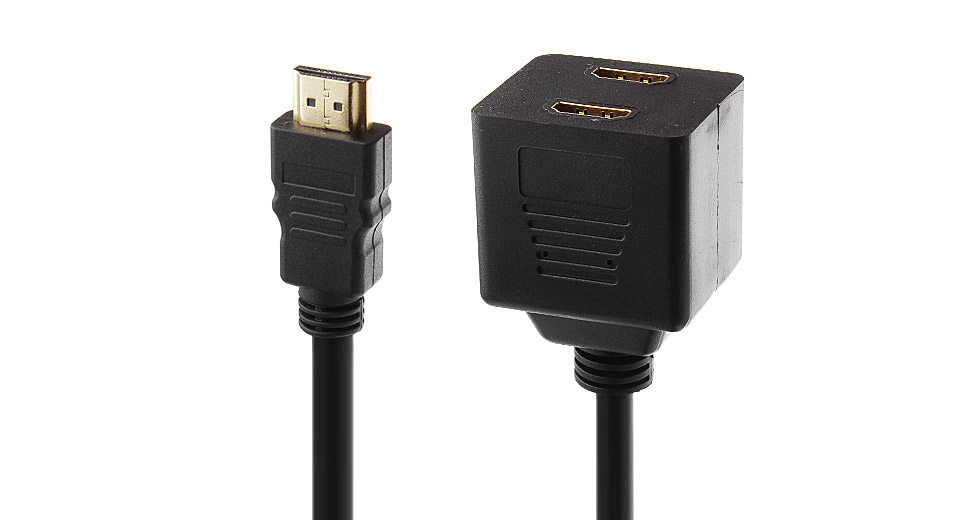 Image of 1080p HDMI Male to Dual HDMI Female Adapter Splitter (30cm)
