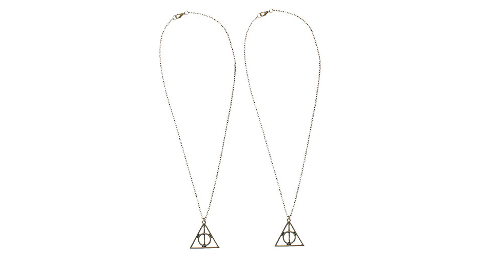 Harry Potter Deathly Hallows Pendant Necklace (2-Pack)