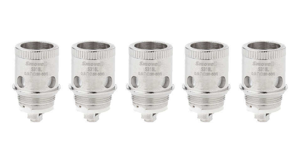 Image of Authentic Smowell Divergent Tank Replacement 316L Stainless Steel TC Coil Head (5-Pack)