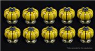 Buy Pumpkin Styled Cupboard / Drawer Ceramic Handle Knob (10-Pack) Styled, Yellow, 10-Pack