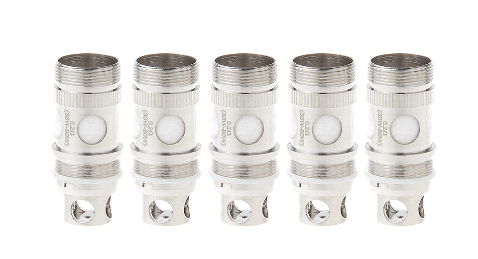 Image of Authentic CoilArt Atank Clearomizer Replacement CTBVC Coil Head (5-Pack)