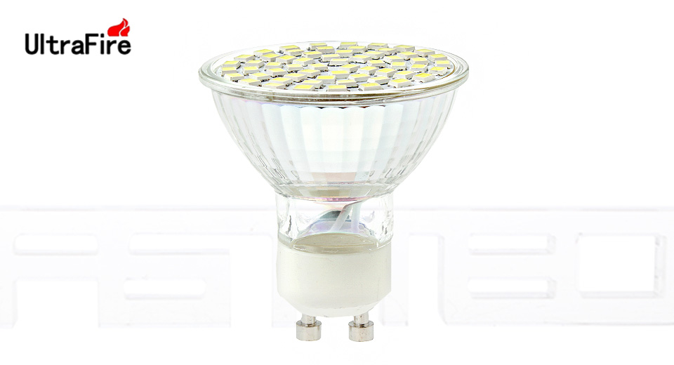 KindFire GU10 3W 240lm 3200K 60 x SMD 3528 LED Warm White Light Spotlight Bulb w/ Cover - (220~240V)