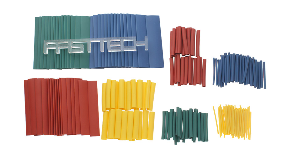 Woer Heat Shrink Tube Sleeving Set (260 Pieces / 8 Sizes)