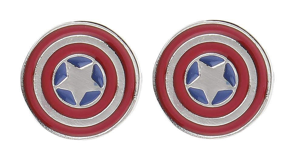 Marvel the Avengers Captain America Shield Cufflinks (Pair)