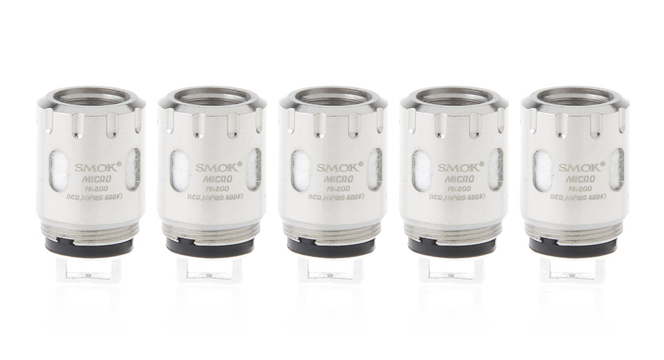 Image of Authentic Smoktech SMOK Micro TFV4 Replacement Micro Ni200 Coil Head (5-Pack)