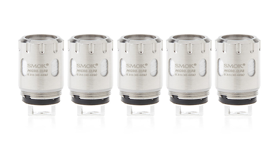 Image of Authentic Smoktech SMOK Micro TFV4 Replacement Micro CLP2 Coil Head (5-Pack)