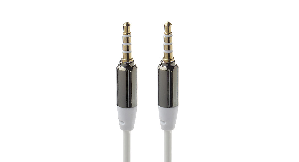 3.5mm Male to Male Coiled Audio Cable (32cm)