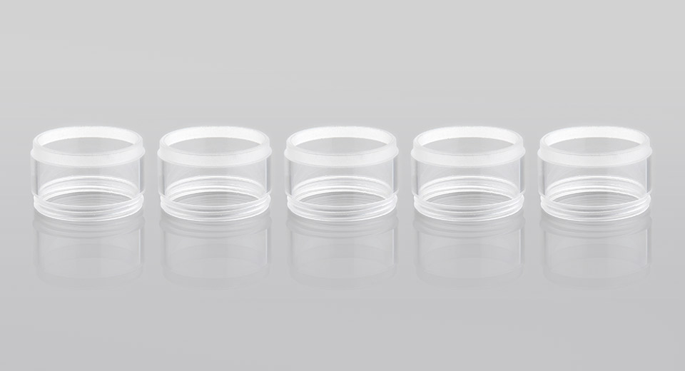 Image of Replacement PC Tank for Square E-Head Hookah Head Atomzier (5-Pack)