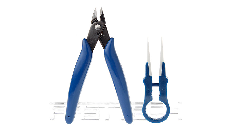 Tweezers + Scissors Tools Kit for E-Cigarettes (2 Pieces)