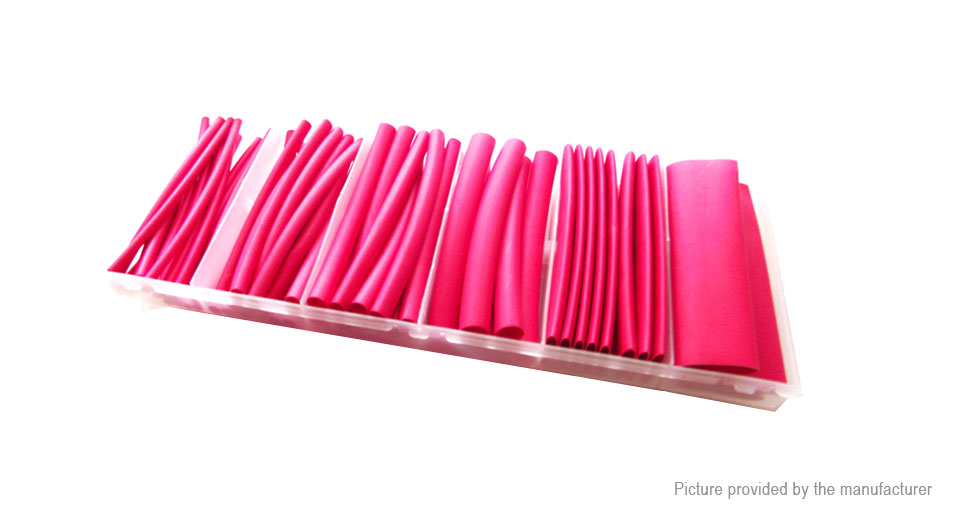Woer Sleeving Wrap Wire Heat Shrinkable Tube Set (53 Pieces/5 Sizes)