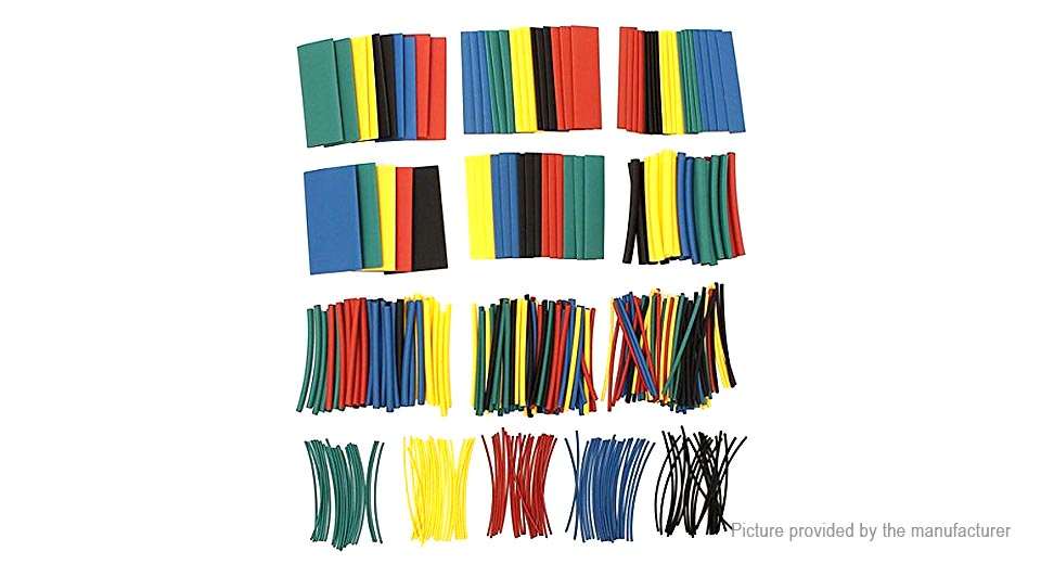 Woer Sleeving Wrap Wire Heat Shrinkable Tube Combo (410 Pieces/10 Sizes)