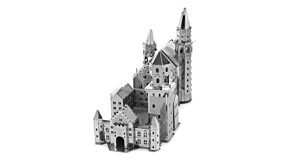 PF Swan Stone Castle 3D Metallic Puzzle Jigsaw Educational Toy