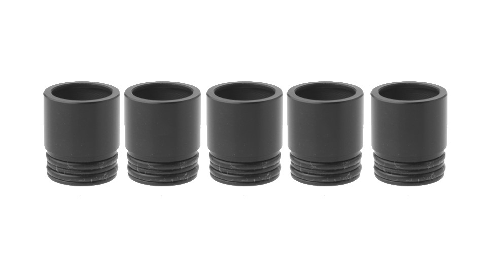 POM Wide Bore Drip Tip for Griffin RTA (5-Pack) 15.5mm, Black, 5-Pack