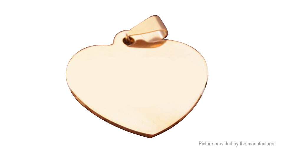 Heart Styled Stainless Steel Pet Dog/Cat ID Tag, Heart Styled, Gold, 23*24mm