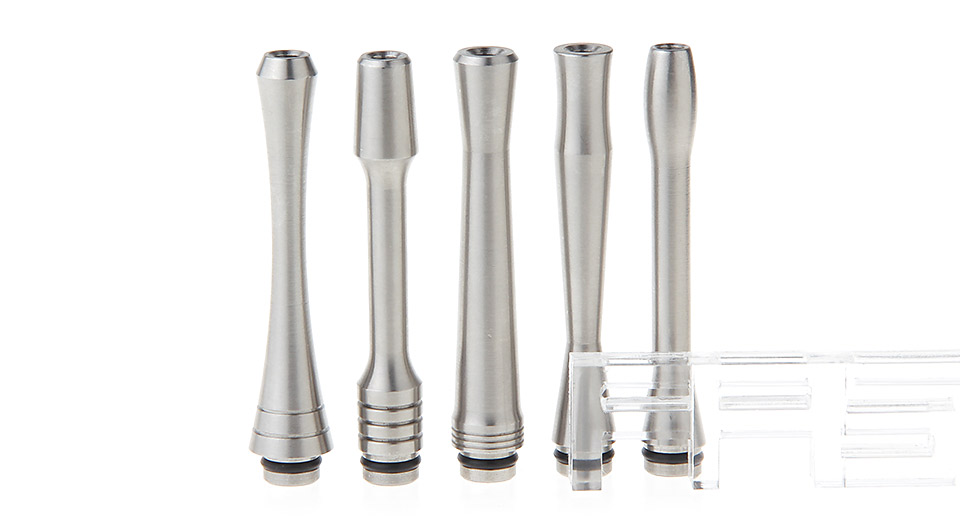 Stainless Steel Curved 510 Drip Tip (5 Pieces)