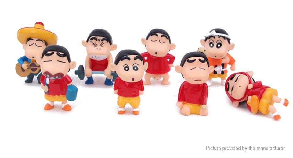 Crayon Shin-chan Mini Figure Doll Toy (8-Piece Set) Crayon Shin-chan, 8-Piece Set