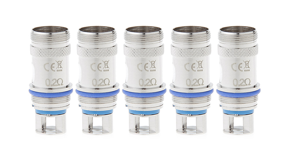 Image of Steamtribe Replacement Coil Head for Aspire Atlantis/Triton Clearomizer (5-Pack)