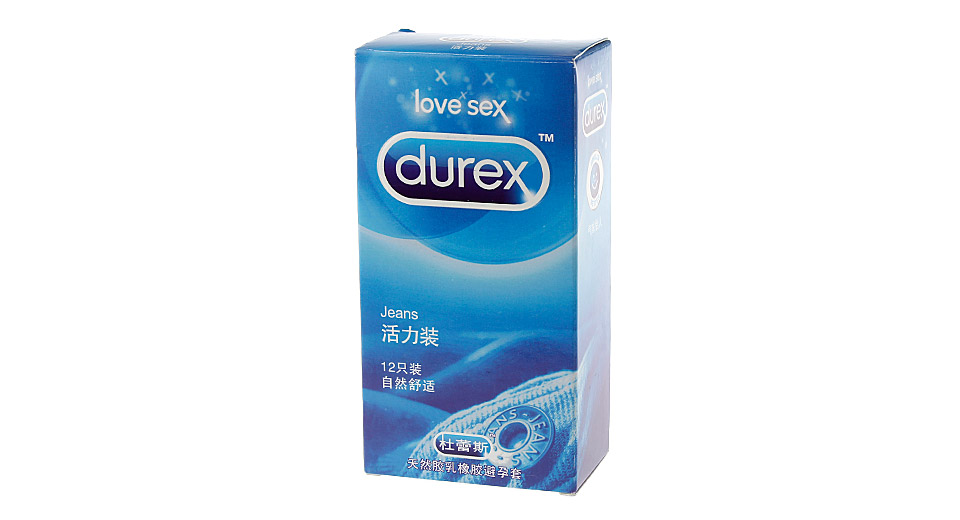 Authentic Durex Jeans Condom (Size M/12-Pack)