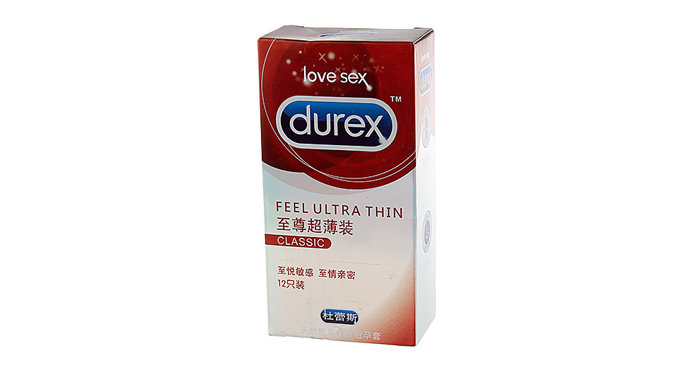 Authentic Durex Feel Ultra Thin Condom (Size M/12-Pack)