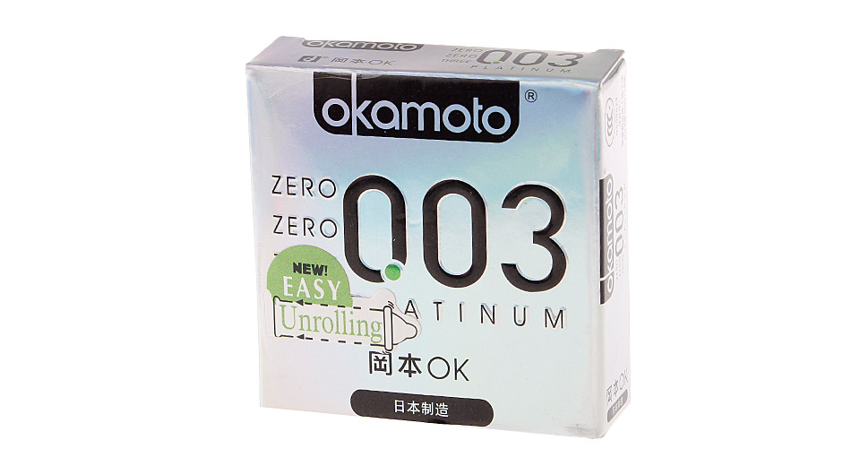 Authentic Okamoto 0.03 Condom (Size M/3-Pack)