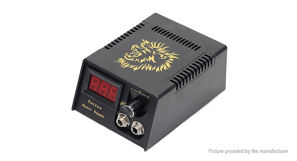 Image of Lion Pattern Power Supply for Tattoo Machine