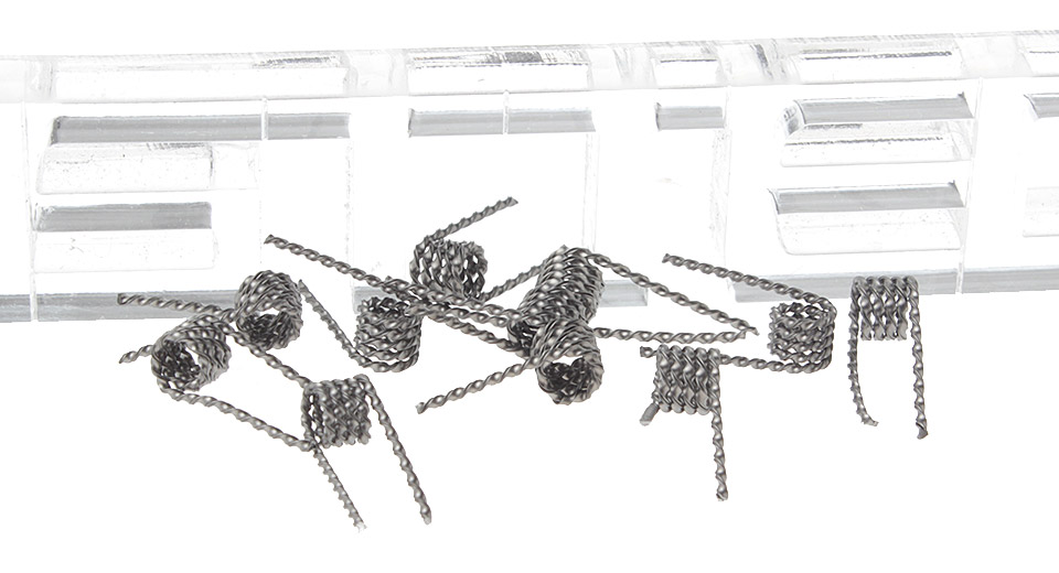 Image of Authentic MKWS Kanthal A1 Flat Twisted Pre-Coiled Wires for RBA Atomizers (10-Pack)