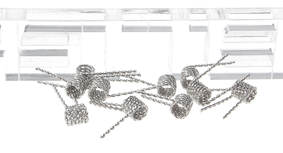 Image of Authentic MKWS 316L Stainless Steel Flat Twisted Pre-Coiled Wires for RBA Atomizers (10-Pack)