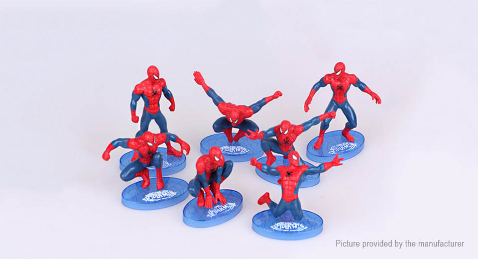 Spider-Man Figure Doll Toy Set (7-Piece Set)