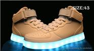 Buy Unisex LED Light Lace High Top Shoes Couple Sneakers (Size 43/Pair) Size 43 (High Top), White