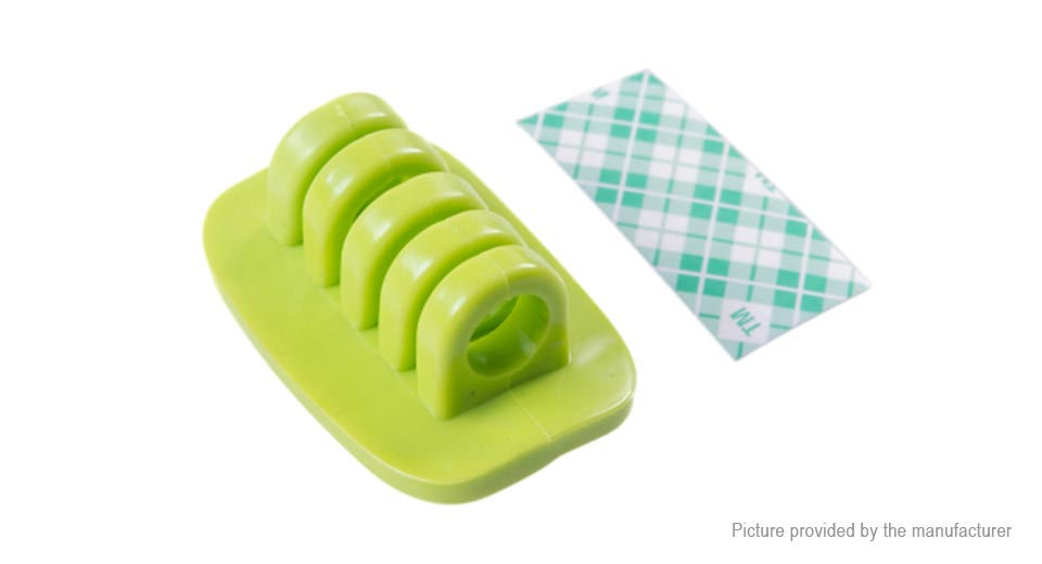 Silicone Cable Winder Organizer Green