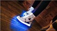 Buy Wind Breaker Unisex LED Light Lace High Top Sports Shoes Sneakers (Size 44/Pair) Size 44, Beige White